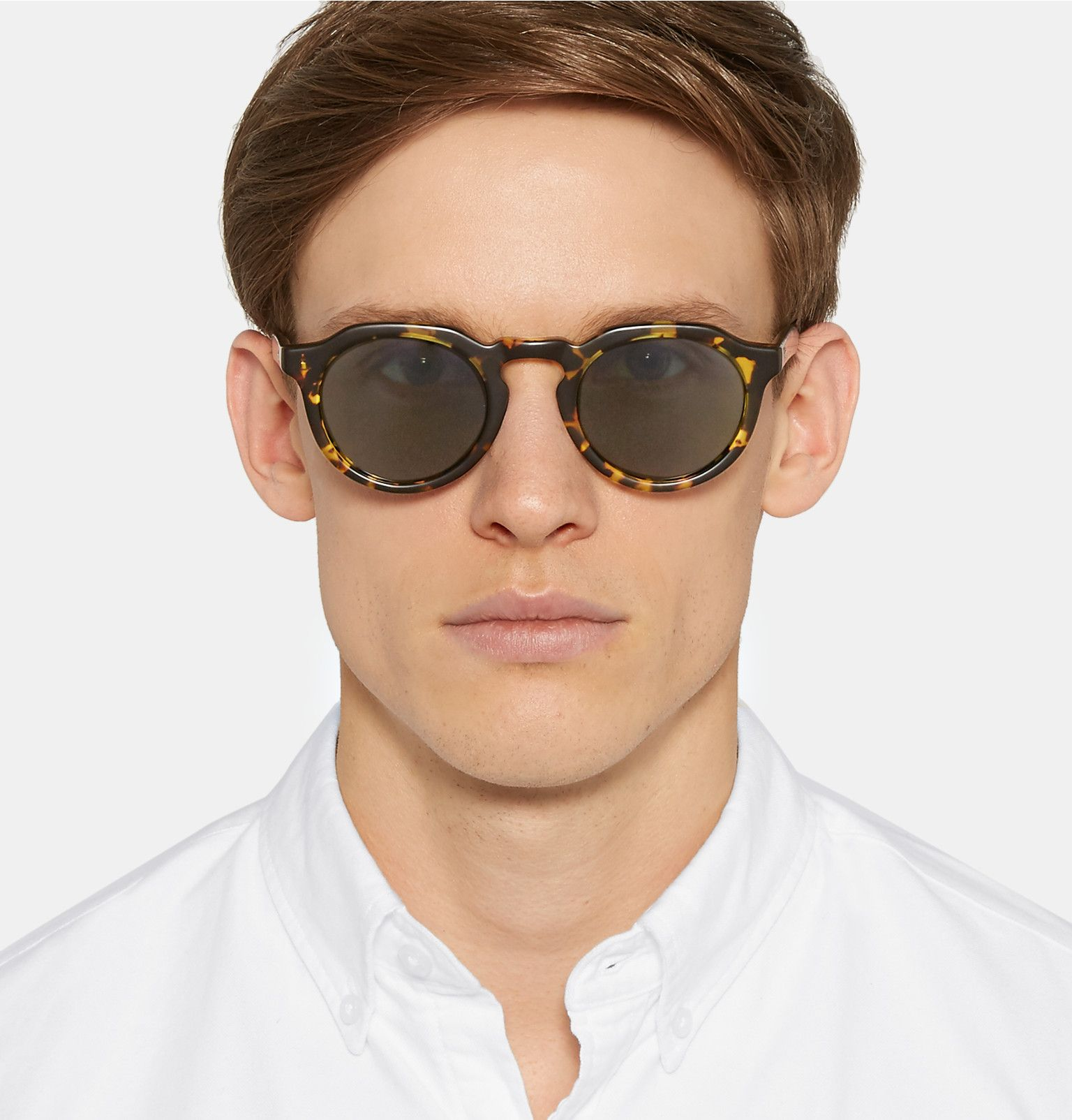 Barton Perreira - Ascot Round-Frame Tortoiseshell Acetate Sunglasses ...