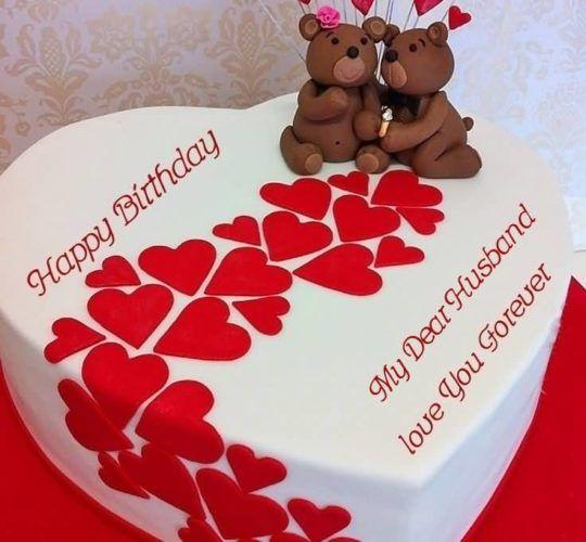 Birthday Wish Cake With Teddies For Husband