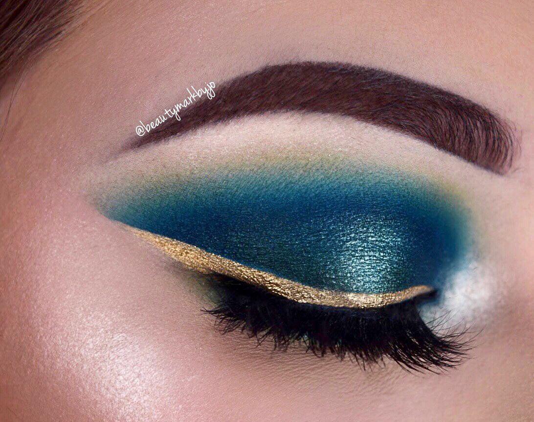 Smokey Teal Eyeshadow Makeup Look Eyeshadow Wingedliner