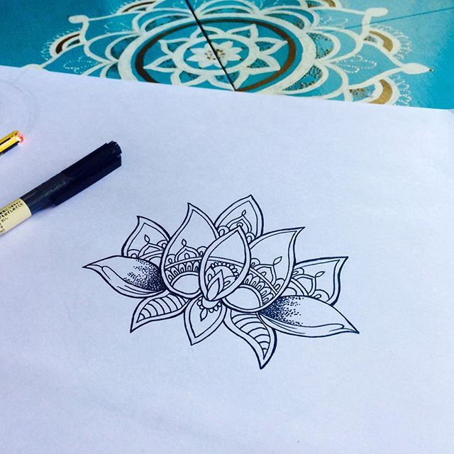 Lotus Dotwork tattoo design  #lotus#dotwork#art#tattoo
