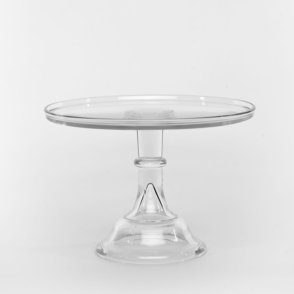 crystal cake stand with dome