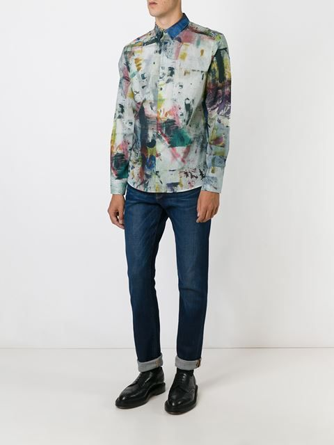 da0ec8c5ee0ef8 Paul Smith Painterly Print Shirt - Fashion Clinic - Farfetch.com ...