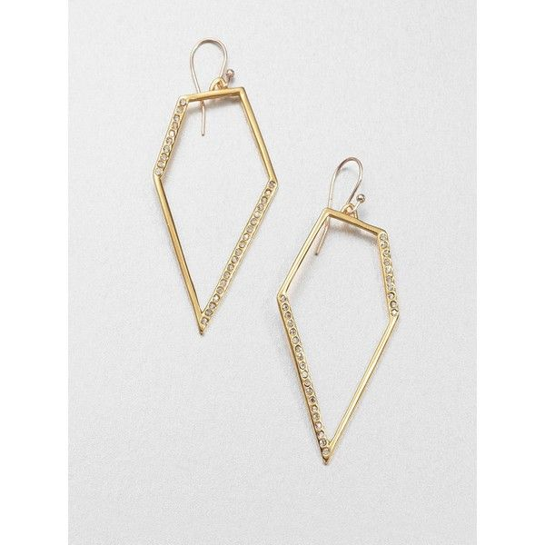 Alexis Bittar Pavé Kite Drop Earrings (545 DKK) found on Polyvore