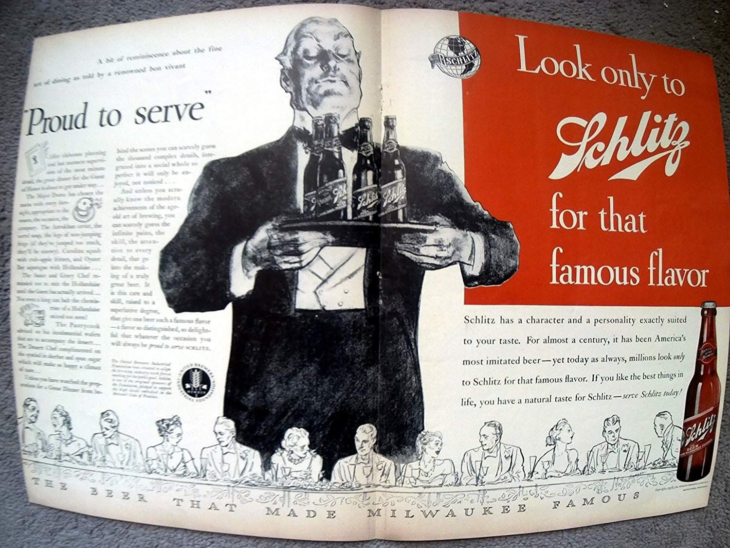 Amazon Com 1938 Schlitz Beer Famous Flavor Milwaukee Original 2 Page 13 5 10 5 Magazine Ad Classic Ads Schlitz Beer Beer Prints Art Deco Posters Prints