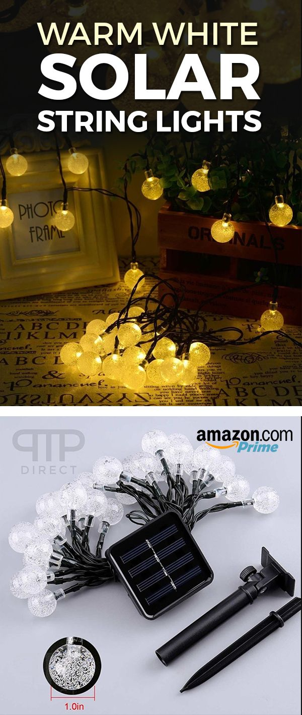 solar powered string lights 30 led for indoor outdoor use