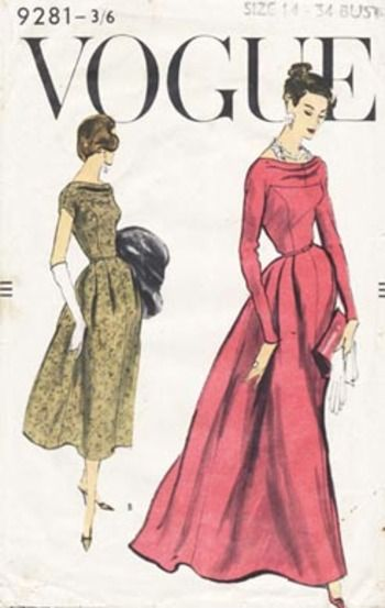 Vintage Vogue pattern envelopes | Vintage schnittmuster ...