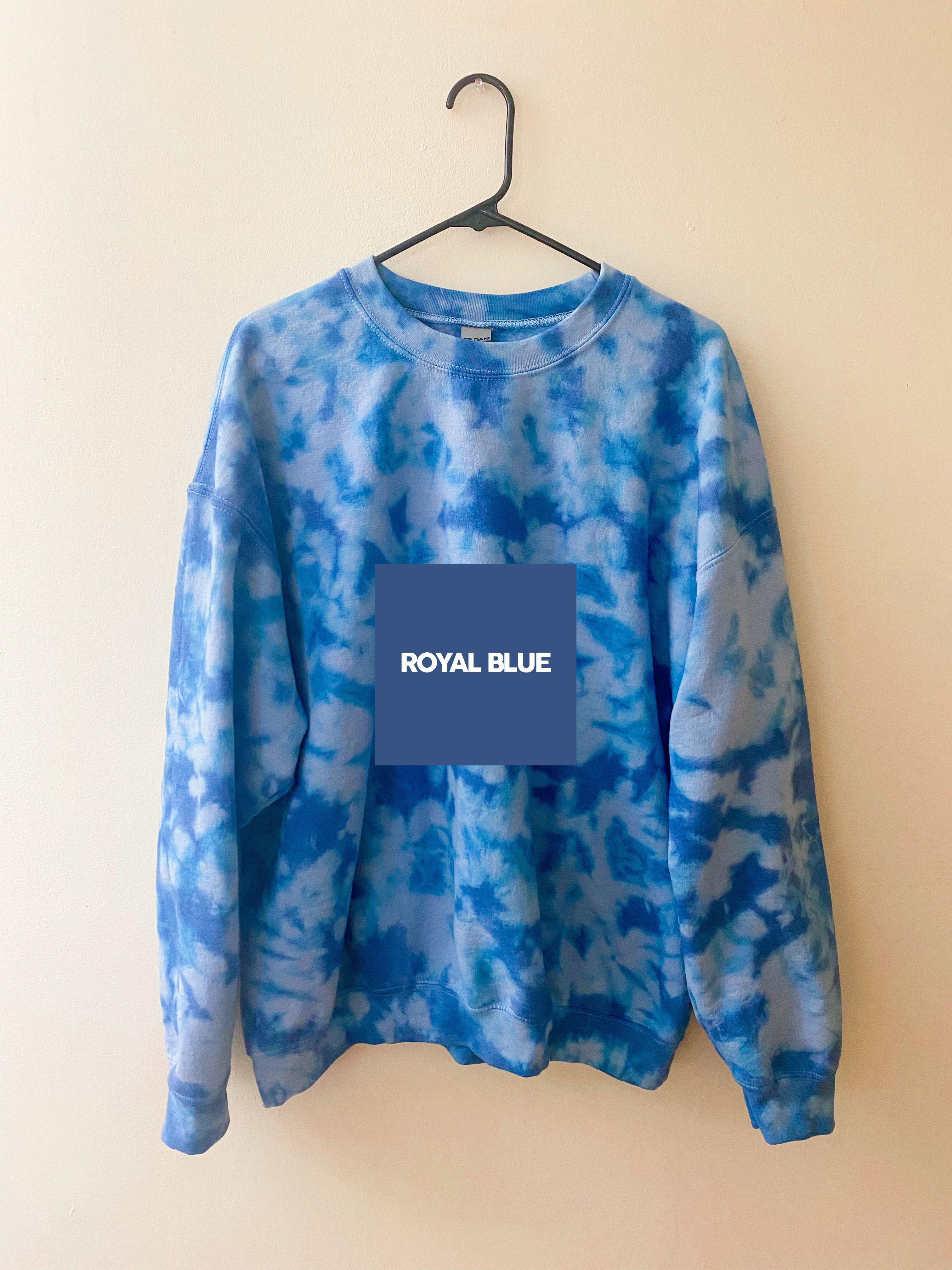 Custom One Color Crinkle Tie Dye Crewneck Sweatshirt Etsy Tie Dye Crewneck Sweatshirts Crew Neck Sweatshirt Blue Tye Dye [ 4032 x 3024 Pixel ]