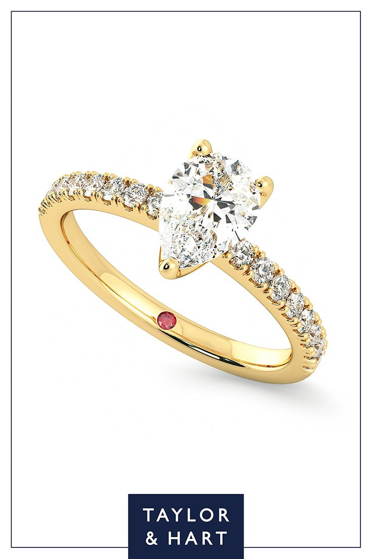 Create your own stunningly classic diamond pave engagement ringthe