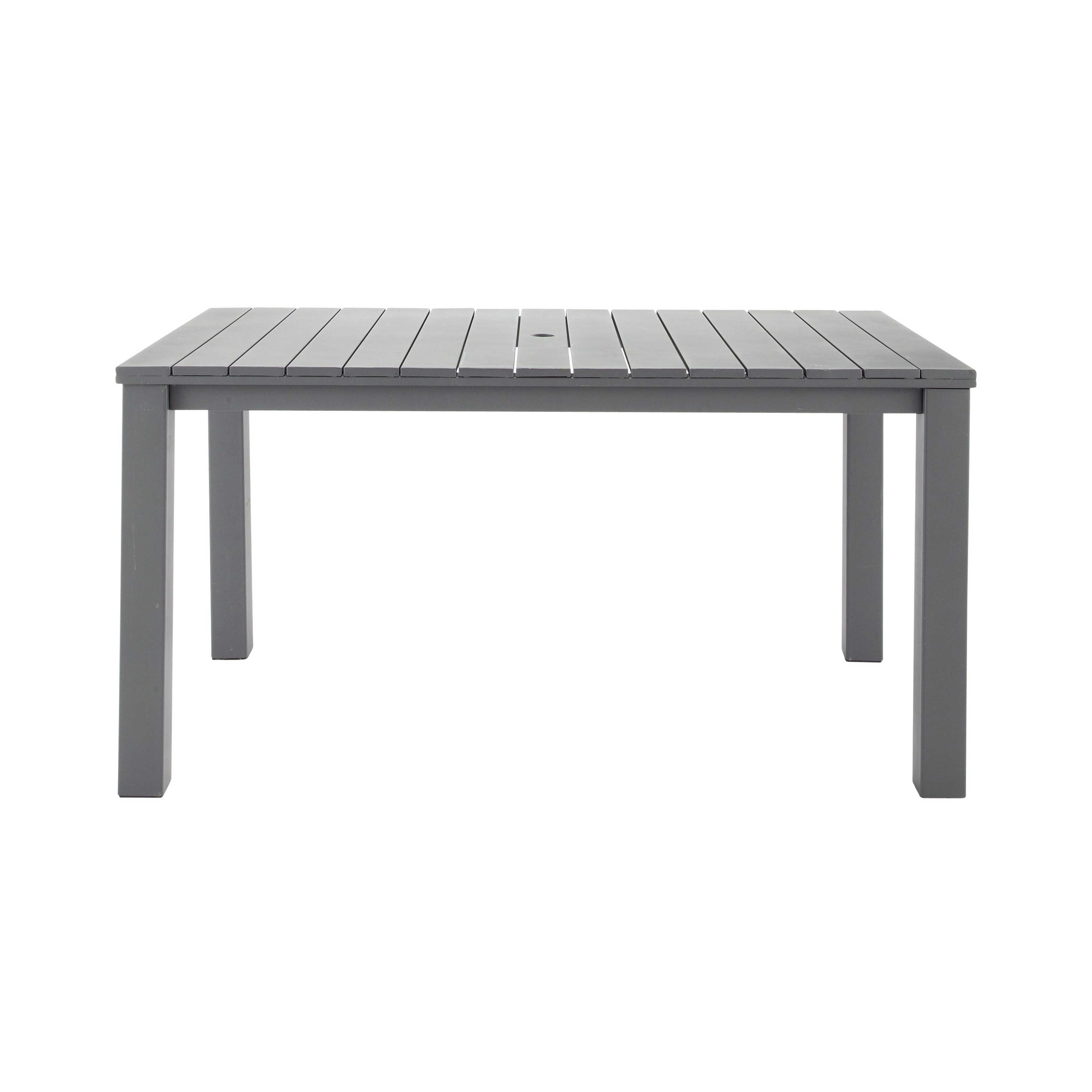 mesa para el jardín de metal gris pizarra an. 150 cm - la ciotat