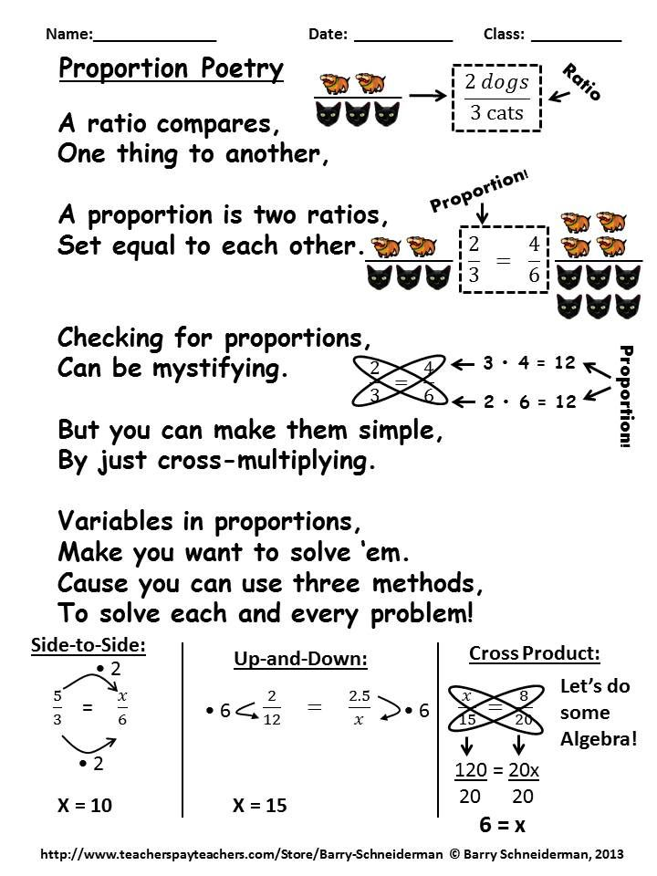 Printable Worksheets ratio and proportion worksheets ks2 : Ratios, Rates, and Proportions Galore | Worksheets, Poem and ...