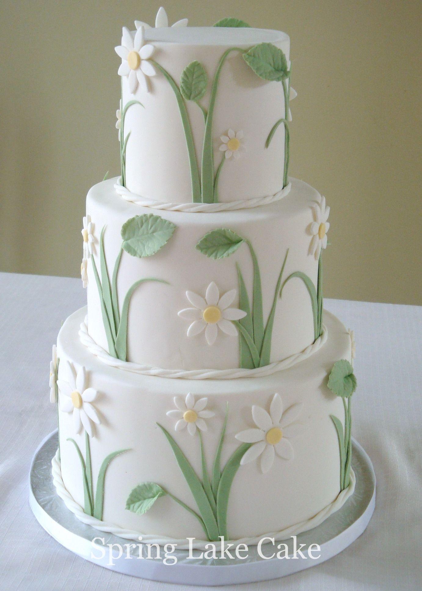 Daisy Wedding Cake A Small Wedding Cake 4 6 8 Inch
