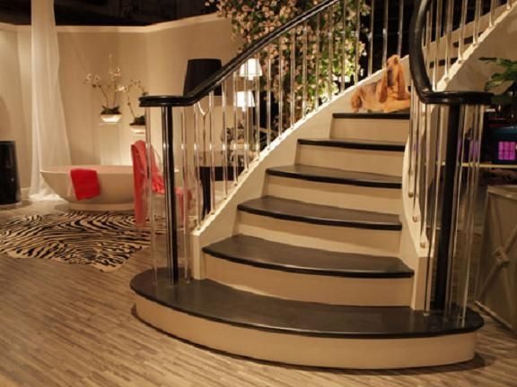 Increased Ambience With Flared Staircase Ideas, Designs, Photos, Pictures,  Images And More