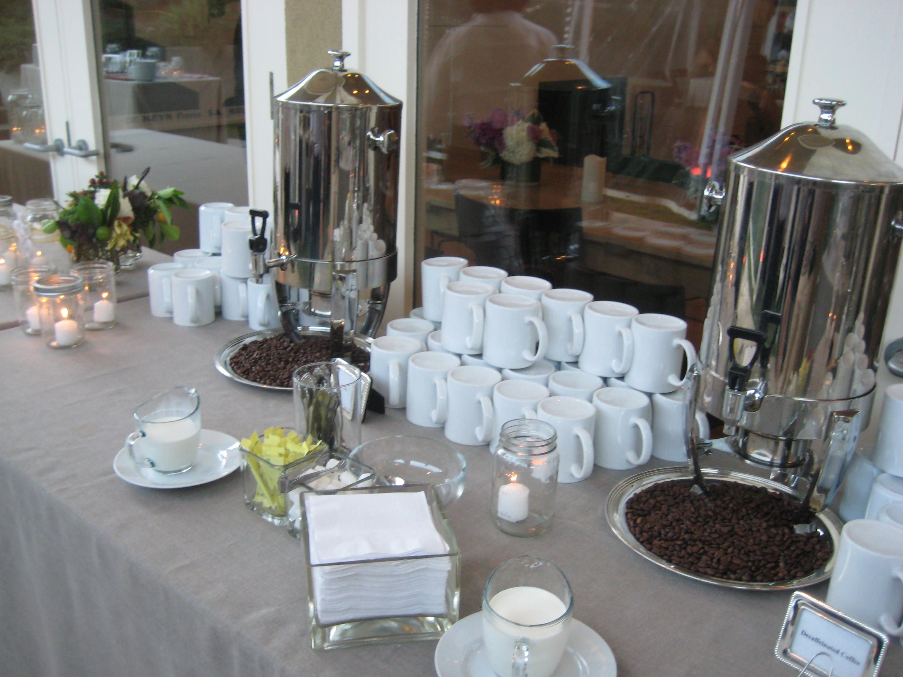 Coffee Bar Ideas For Party Coffee Station Like The Idea Of Coffee Beans Maybe A