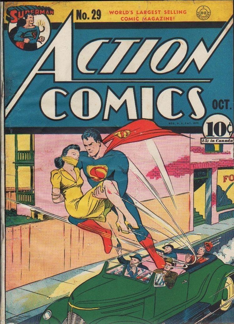 Action Comics 29 w Superman 1940 1st Lois Lane Cover   eBay