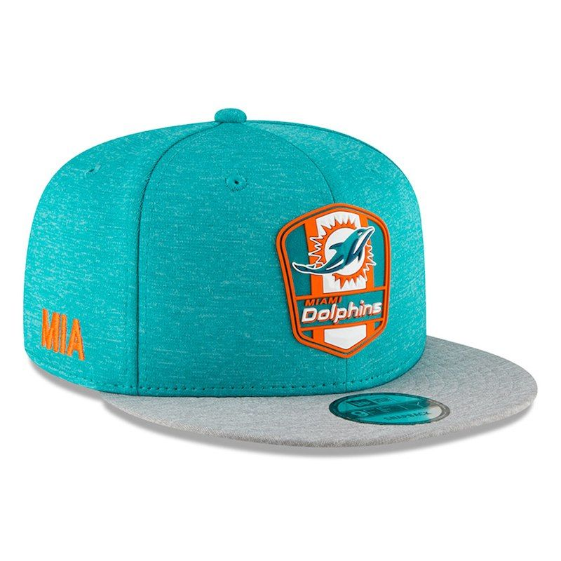 bfb4406e Miami Dolphins New Era 2018 NFL Sideline Road Official 9FIFTY ...