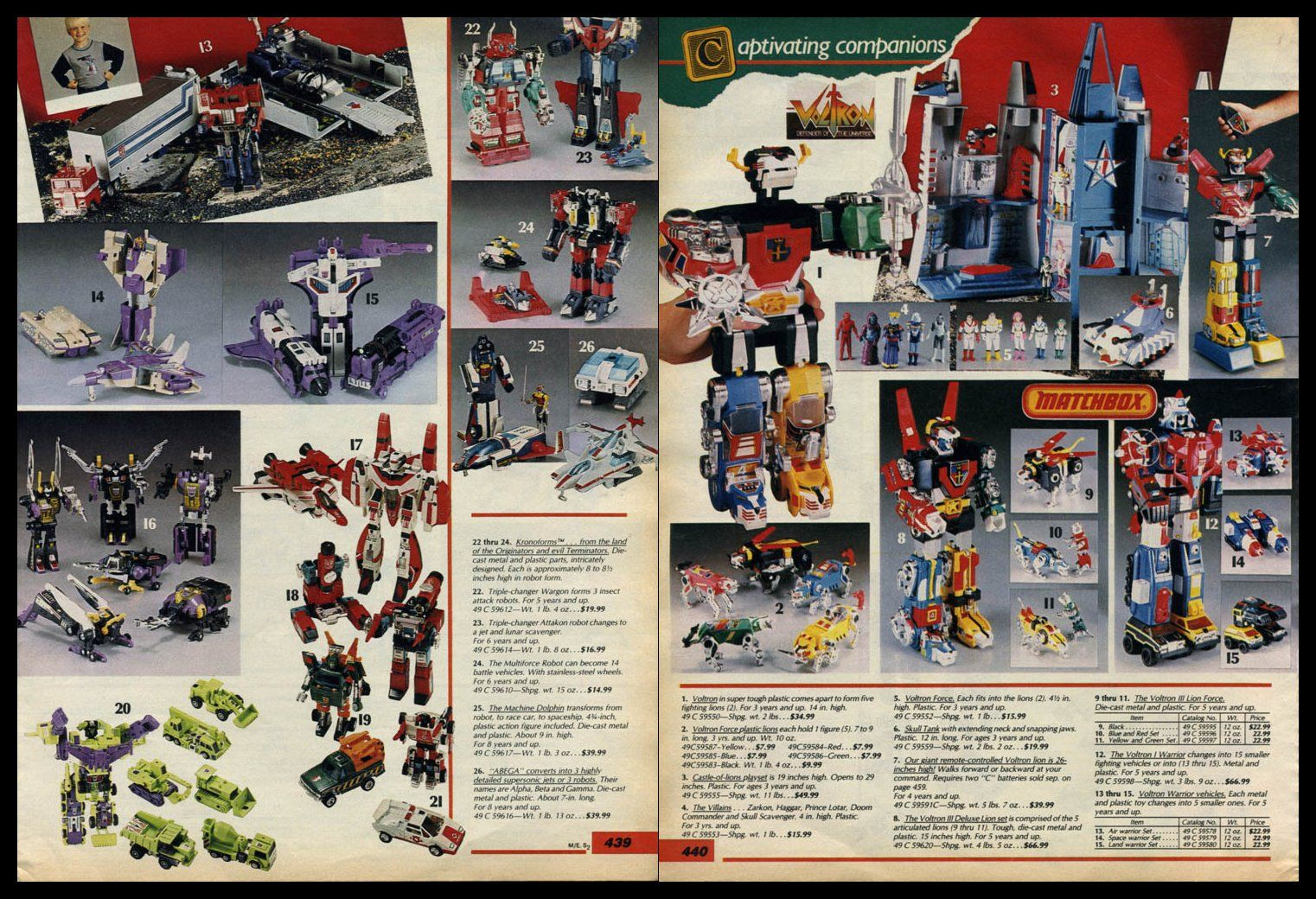 Toys At Sears : Sears catalog toys bing images transformers pinterest