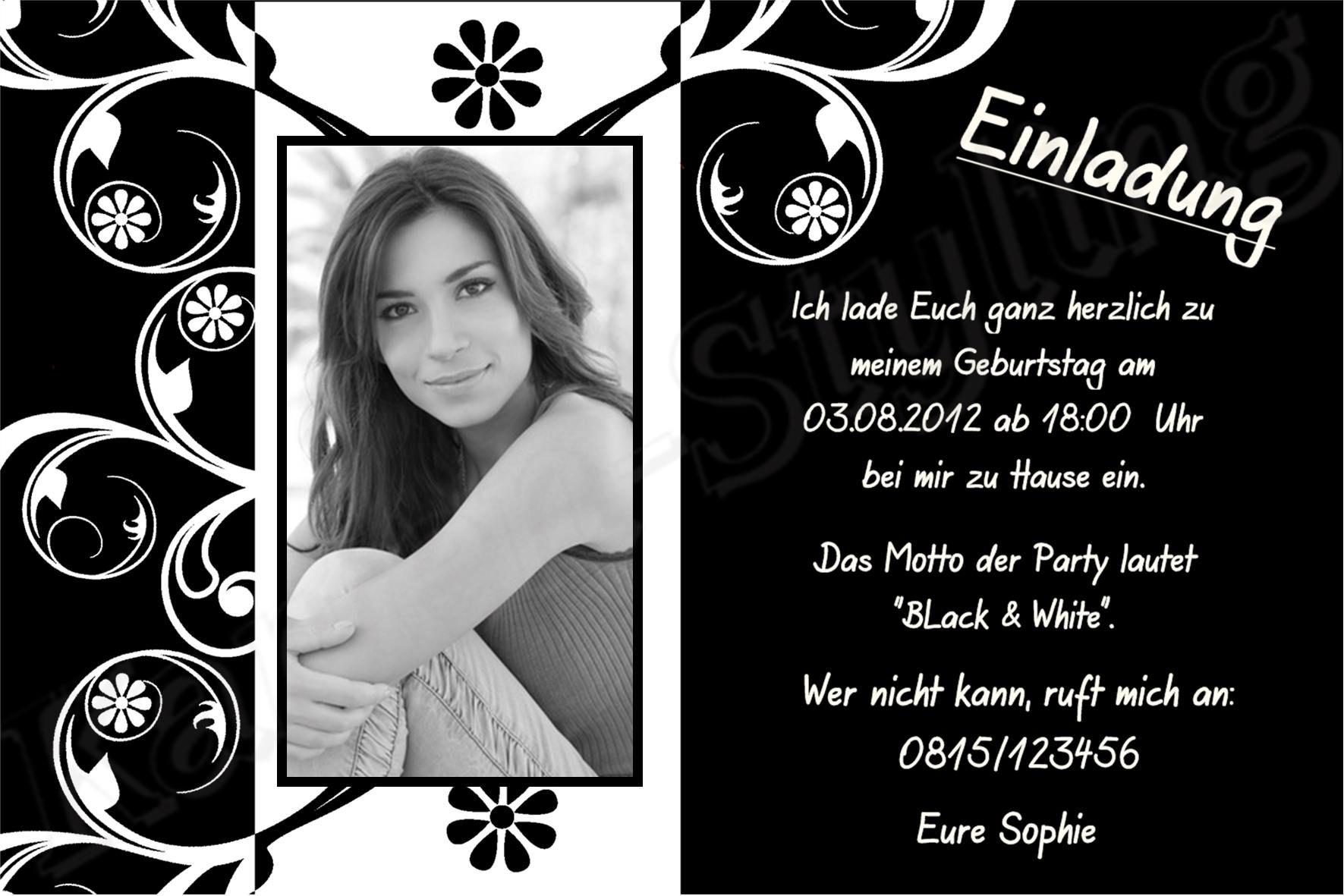 Einladung 18 Geburtstag Selber Basteln 70 Geburtstag Party