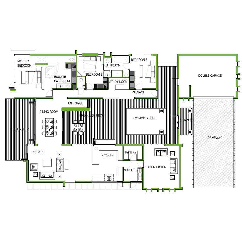 4 Bedroom Home Plans And Designs Bedroom 273M2 Floor Plan House Plans Hq Click Here To Find Your
