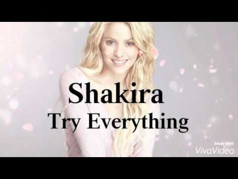 Shakira - Try Everything. Lyrics video