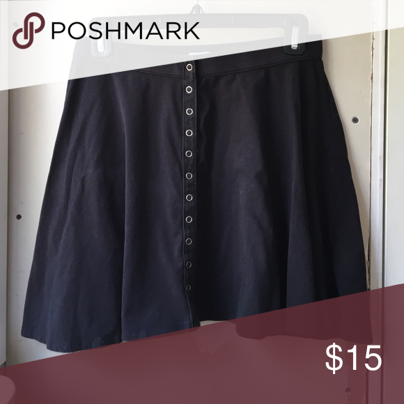 Urban Outfitters Button-Up Skater Skirt Pre-loved condition. Urban Outfitters Skirts Circle & Skater