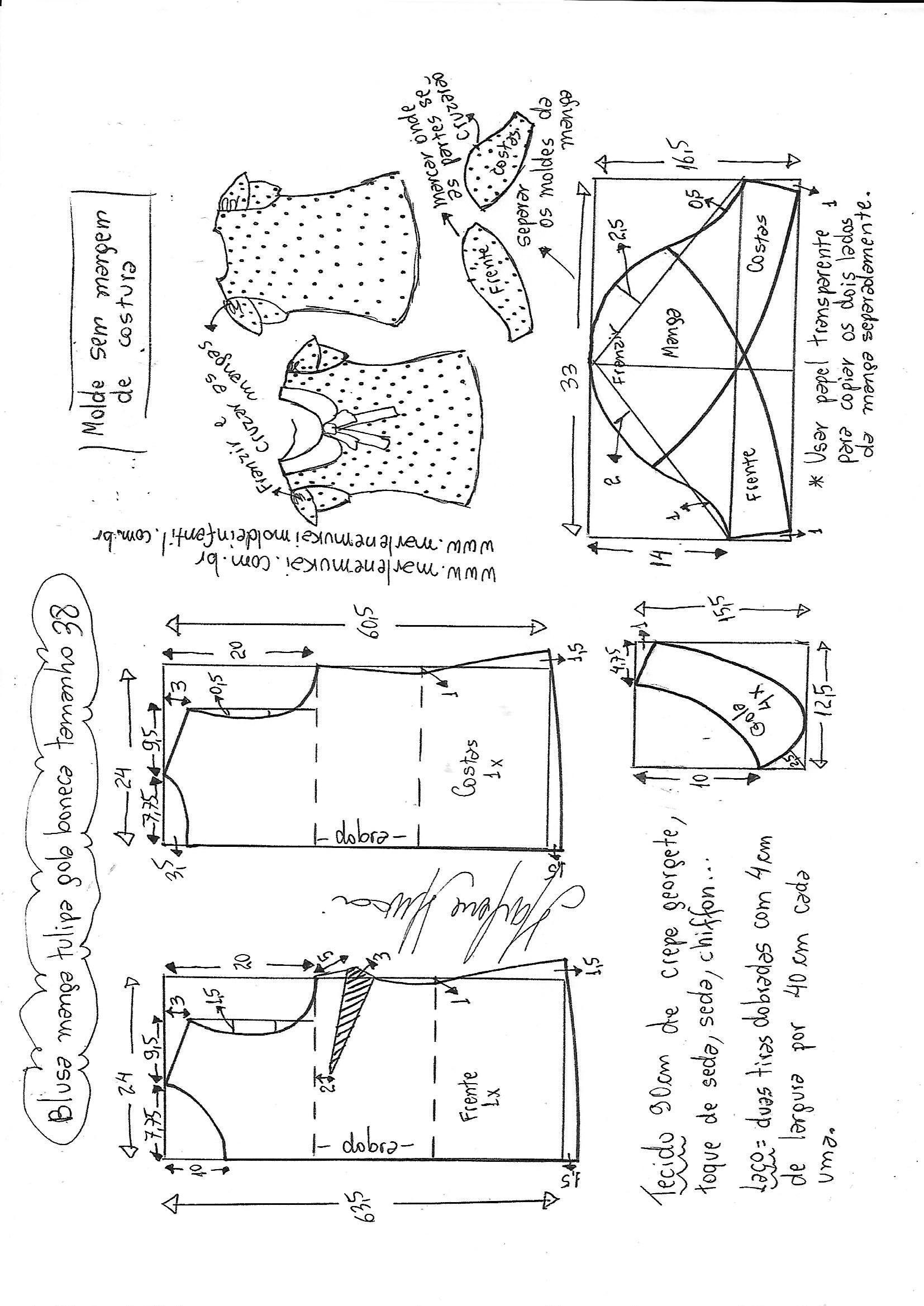Pin de bety en patrones | Sewing, Sewing patterns y Sewing patterns free