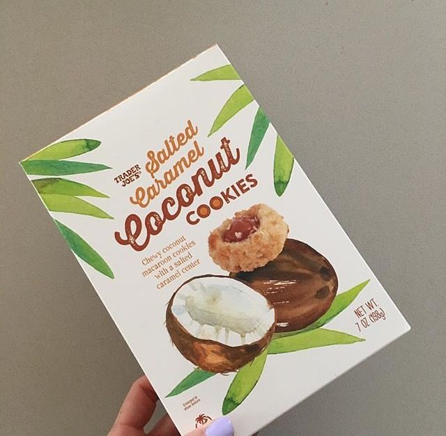 Pin By Spaceyrachey On Shopping List Trader Joe S Macaroons Salted Caramel Coconut Macaroons