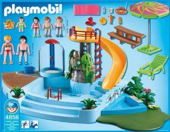 Playmobil   4858   Jeu De Construction   Piscine Avec Toboggan: Amazon.fr:  Jeux Et Jouets