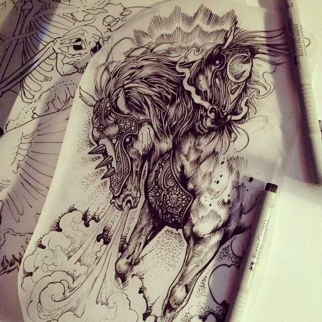 Horses   Horseshoe Tattoo Flash   Pinterest   Horseshoe ...