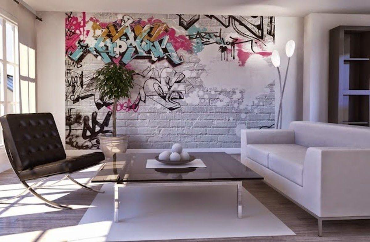 Decorar Pared Salon Con Graffiti Deco Palooza Pinterest - Decoracion-de-paredes-de-salon