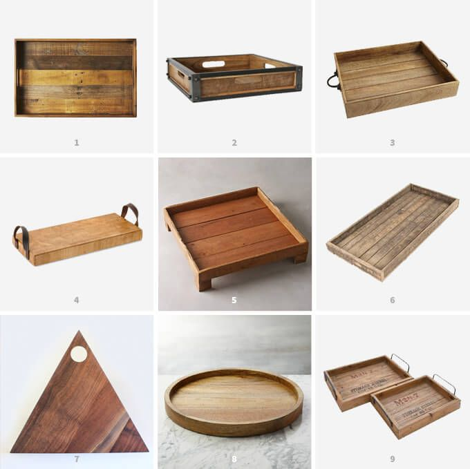 Woodworking Plans For Kitchen Spice Rack: Wooden Trays