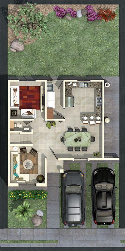 Pinterest claudiagabg townhouse 3 cuartos 1 estudio for Casas modernas pequenas de dos plantas
