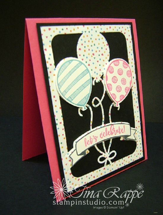 Lets Celebrate With The Balloon Pop Up Thinlits Birthdays Cards