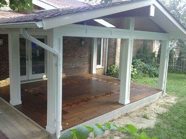 Patio Roof Cover   Traditional   Porch   Chicago   Millennium Construction