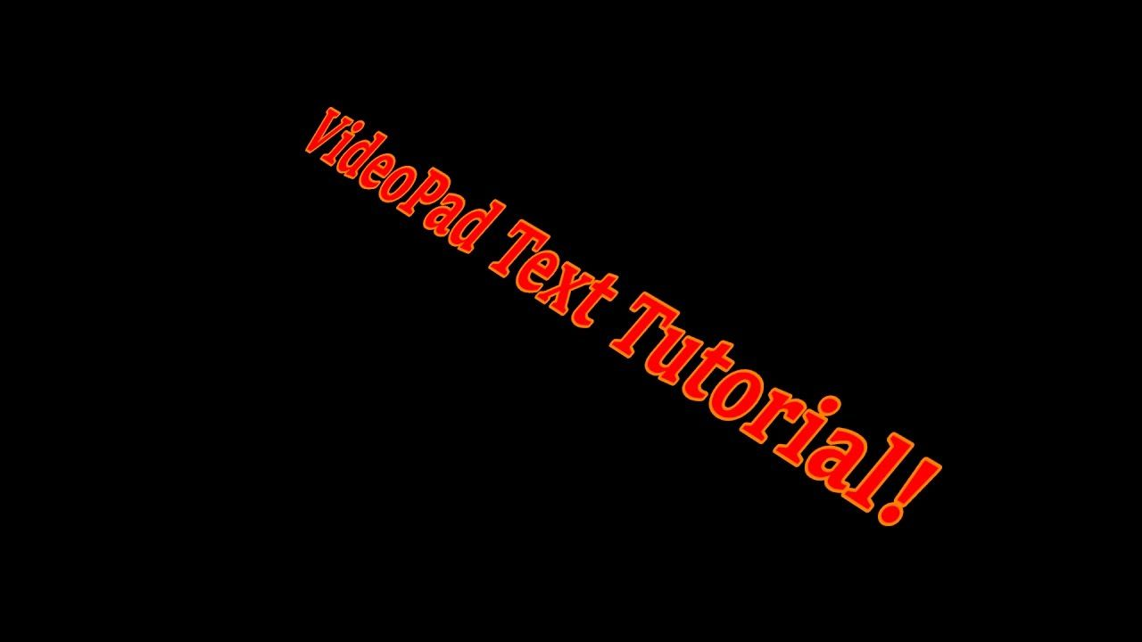 Tutorial | Effects to Make Text Interesting | VideoPad