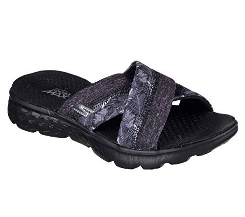 Skechers Performance Womens On The Go 400 Tropical Flip Flop Black