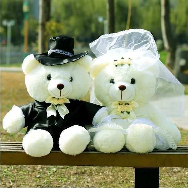 A Couple Of Teddy Wedding Lovers Bears 60cm Birthday Valentine S Day