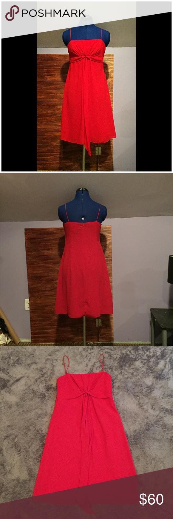 Sl fashions petite red empire waist midi dress en my posh