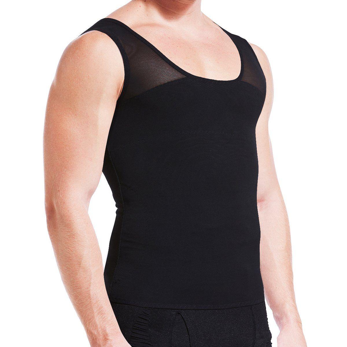 Best Men/'s Shapewear Vest Slimming Compression T Shirt for Gynecomastia Moobs UK