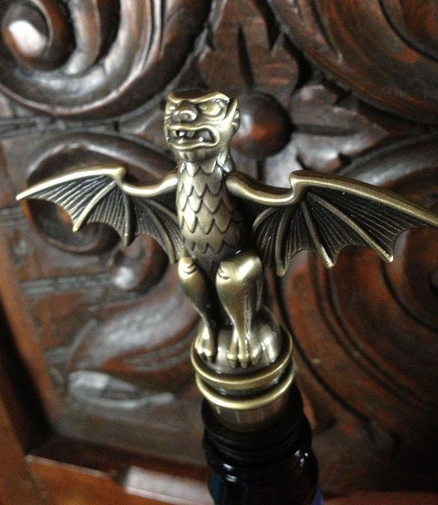 Disney Parks Haunted Mansion Wine Bottle Stopper Brass Metal
