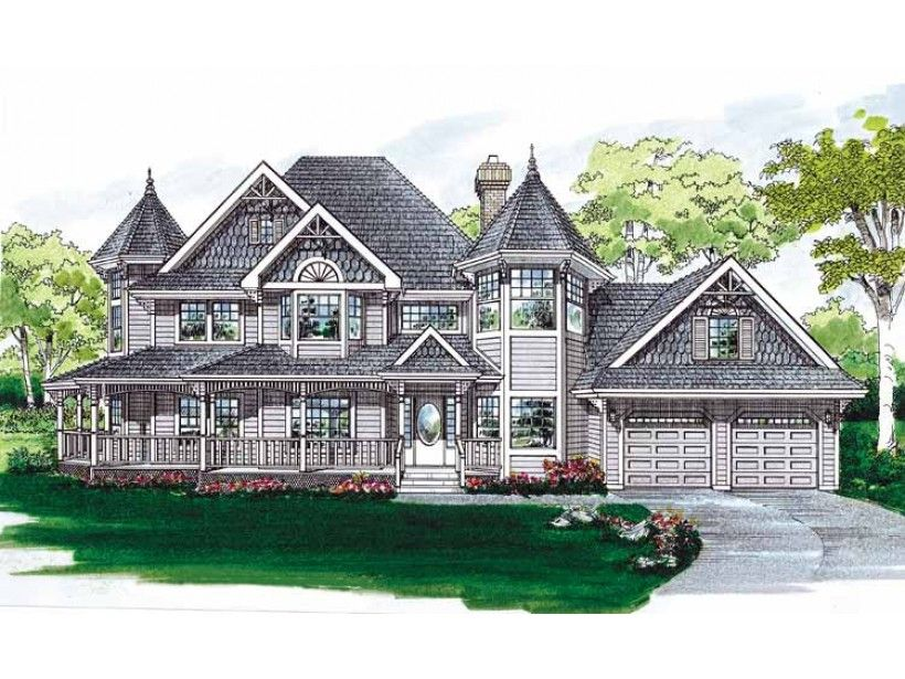 Queen anne house plan with 2632 square feet and 4 bedrooms for Queen anne style house plans