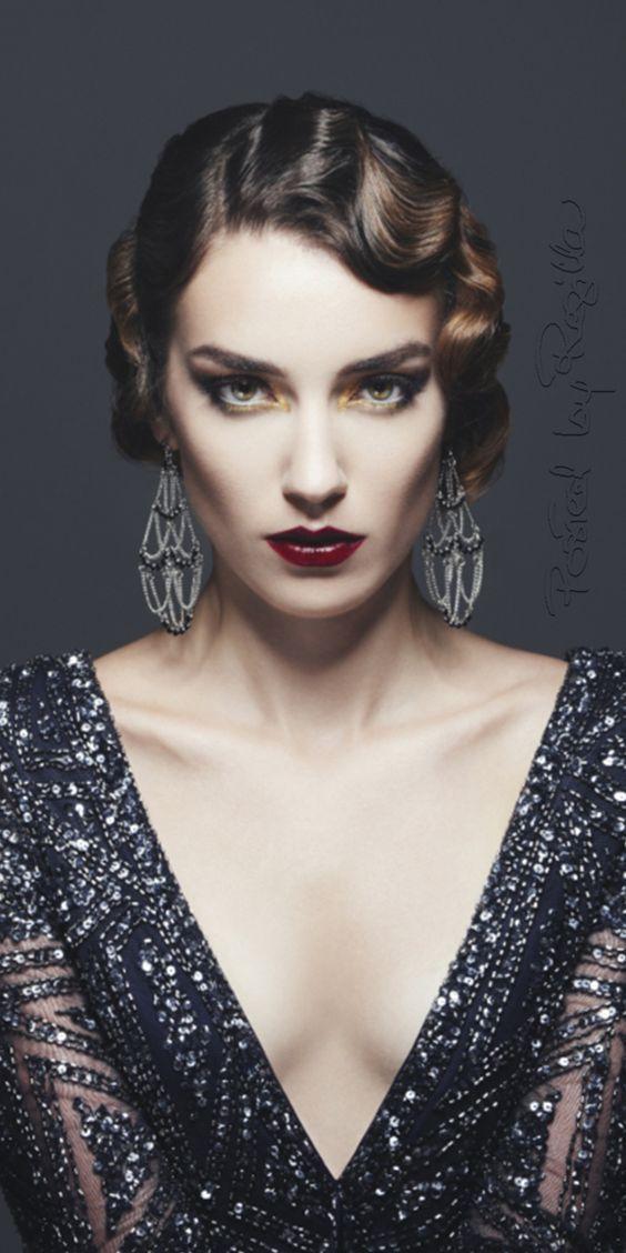 alter hollywood-glamour | 20er jahre frisur, frisuren und