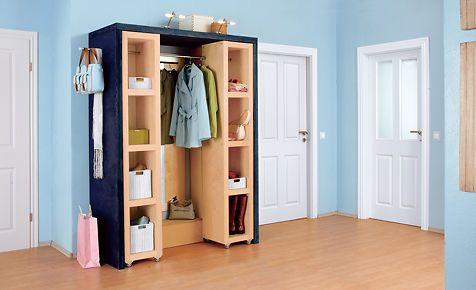garderobe mit schuhregal garderoben bauanleitung und selbst bauen. Black Bedroom Furniture Sets. Home Design Ideas