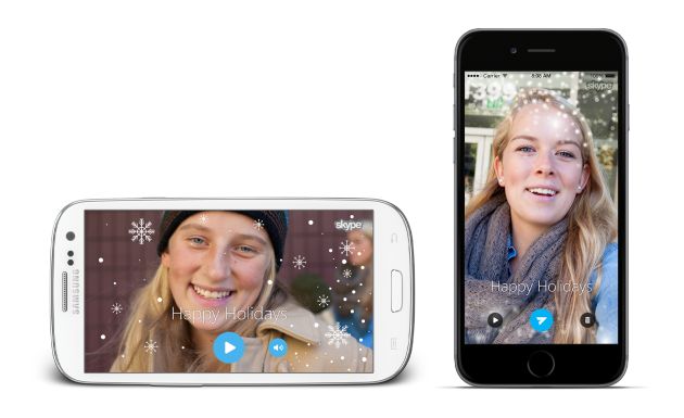 Skype for Android updates with new holidaythemed features