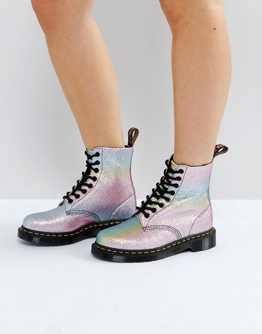 de744e5fd Dr Martens Pascal Glitter 8 Eye Boots | Fashion Fabulosity! in 2019 ...