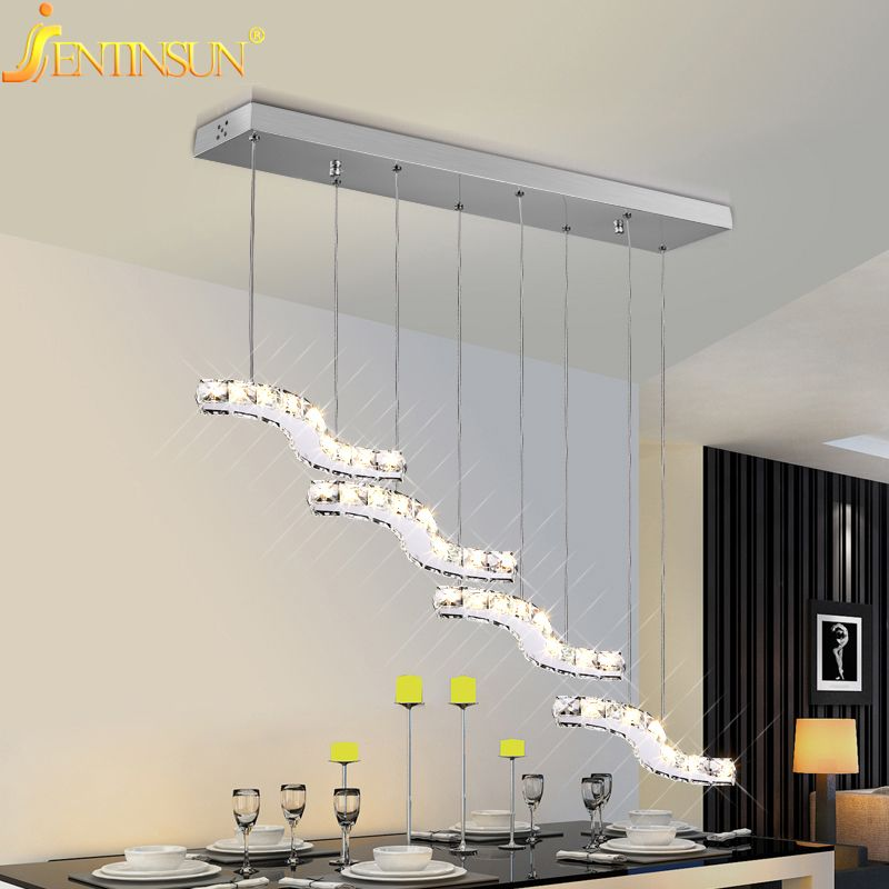 Pendant Lights Modern Gold Clear Crystal Lamps Dining Room Glass Light New Designer Home Fixtures Lighting Lamparas