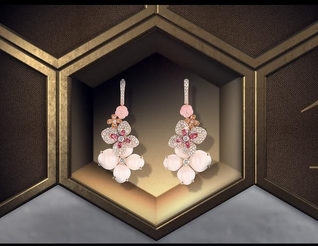 Chaumet Gifts selection | Hortensia earrings in pink gold