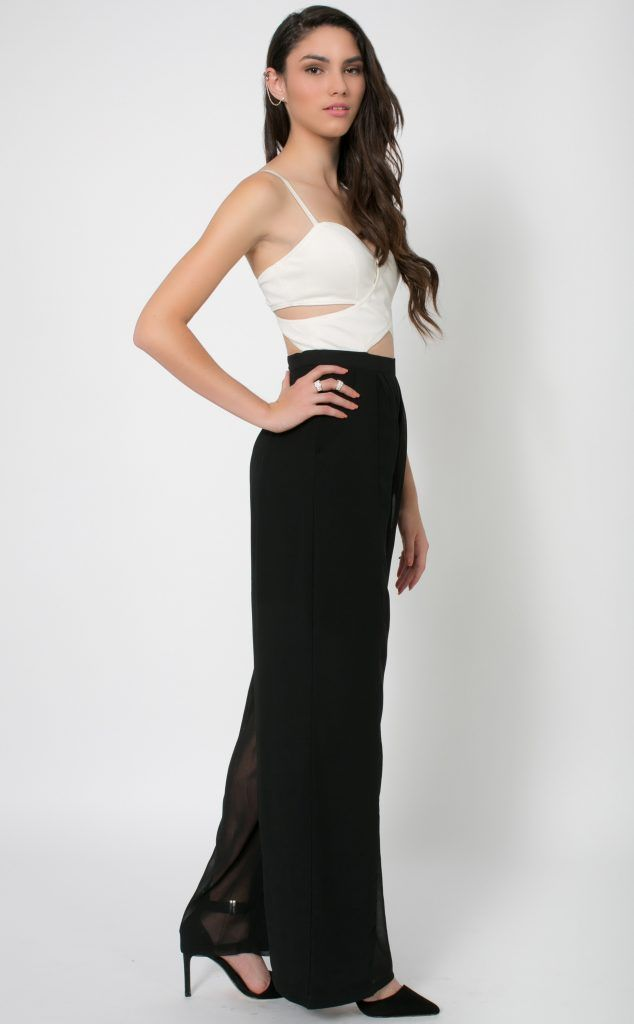 Black And White Dressy Jumpsuit Concrete Runway Dressy Jumpsuits ...