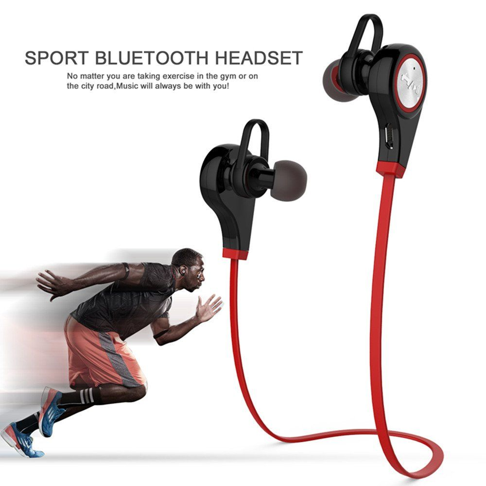 90b28607db0 Pobode Bluetooth 4.1 Wireless Sports Headphones In-ear Running Stereo Noise-Cancelling  Earbuds Headsets