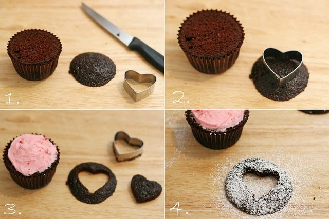 Heart Cut-out Cupcakes - part II.