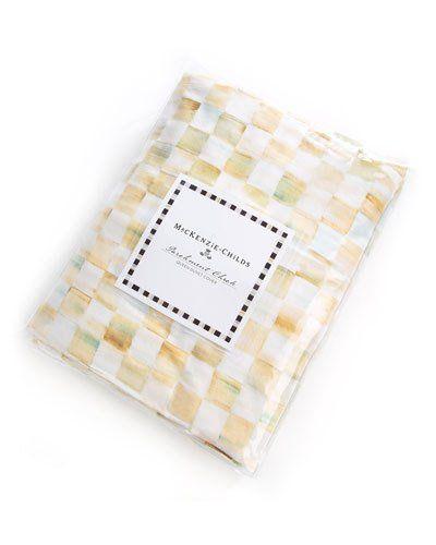 Queen Parchment Check Duvet Cover